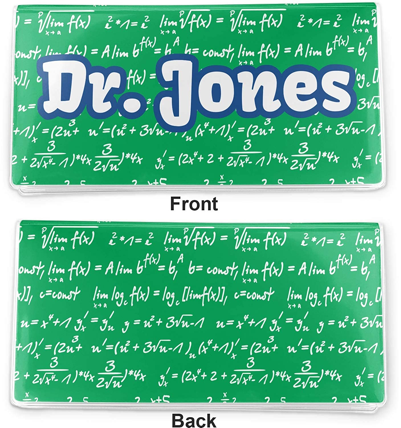 Personalized Equations Vinyl Checkbook Cover