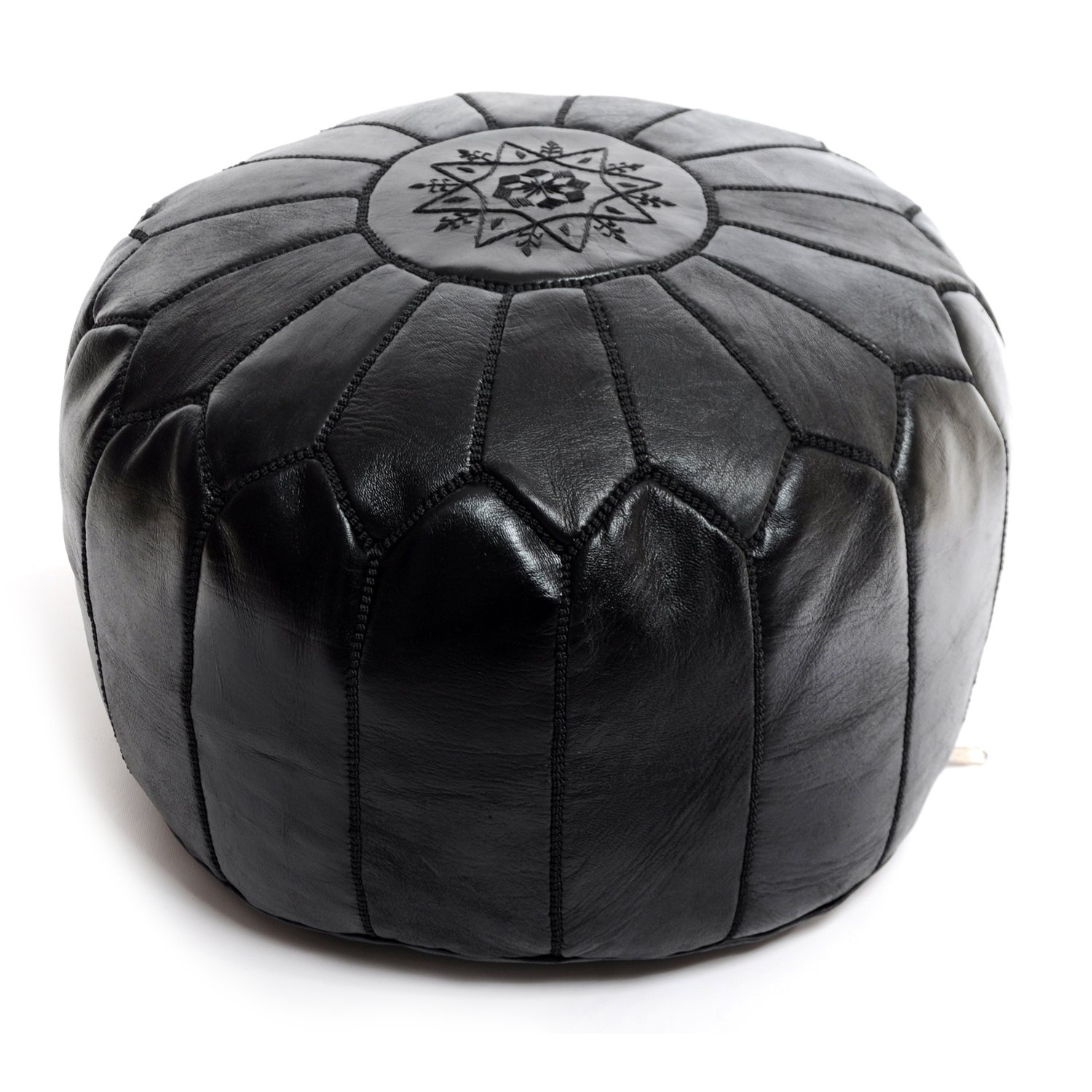 large leather pouf ottoman perfect amazing pin andrea. Black Bedroom Furniture Sets. Home Design Ideas