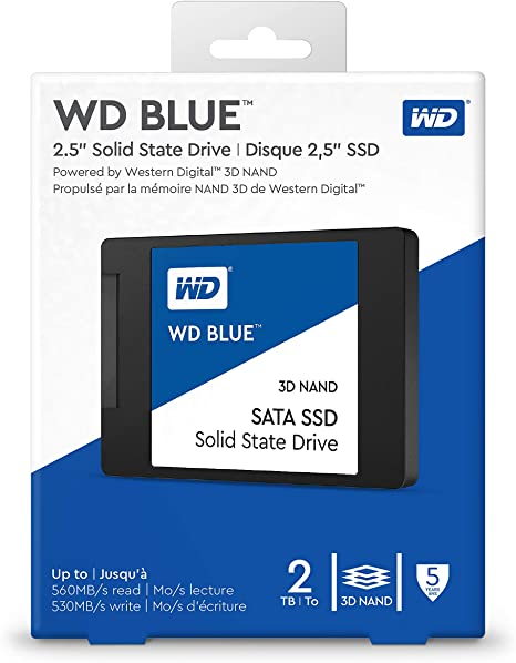 Western Digital WDS200T2B0A WD Blue 2TB 3D NAND Internal SSD 2.5 ...