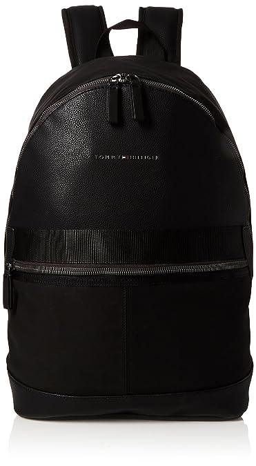 15af4d33db9 Tommy Hilfiger Playful Novelty Backpack, Men s Black, 19x46x30 cm (B x H T)