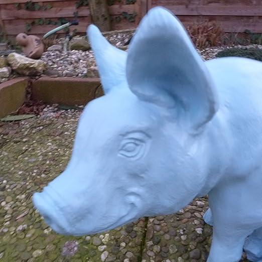 De cerdo – Cerdo en azul – Sau – Figuras – Jardín Figura – bh091 ...