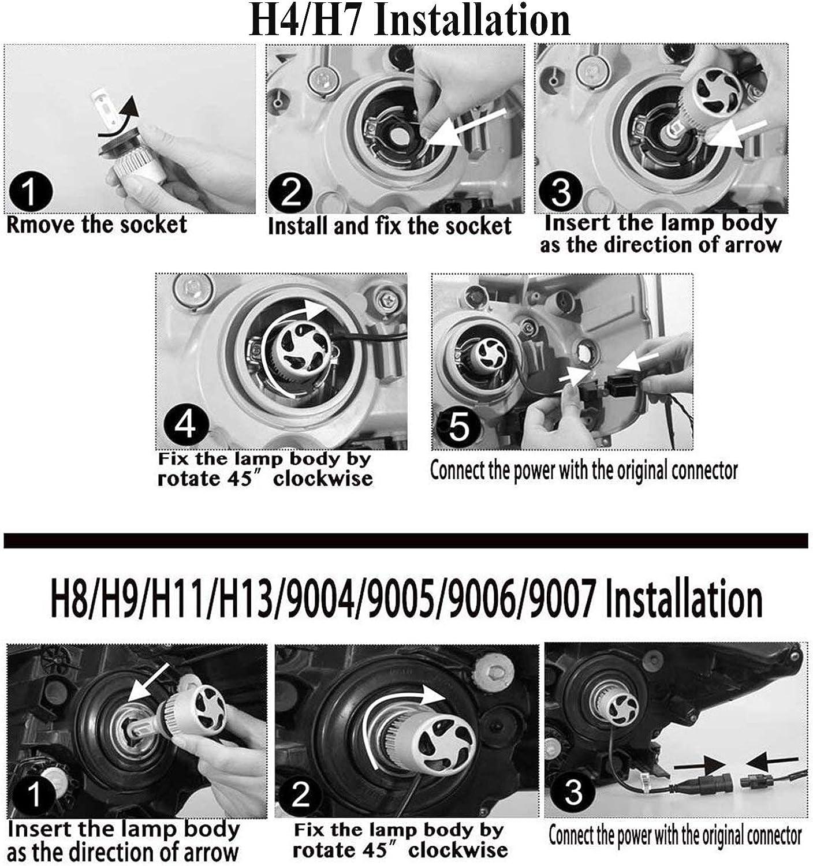 9003/HB2 Hi/Lo Beam 3 Year Warranty Ultra H4 LED Headlight Bulbs ...