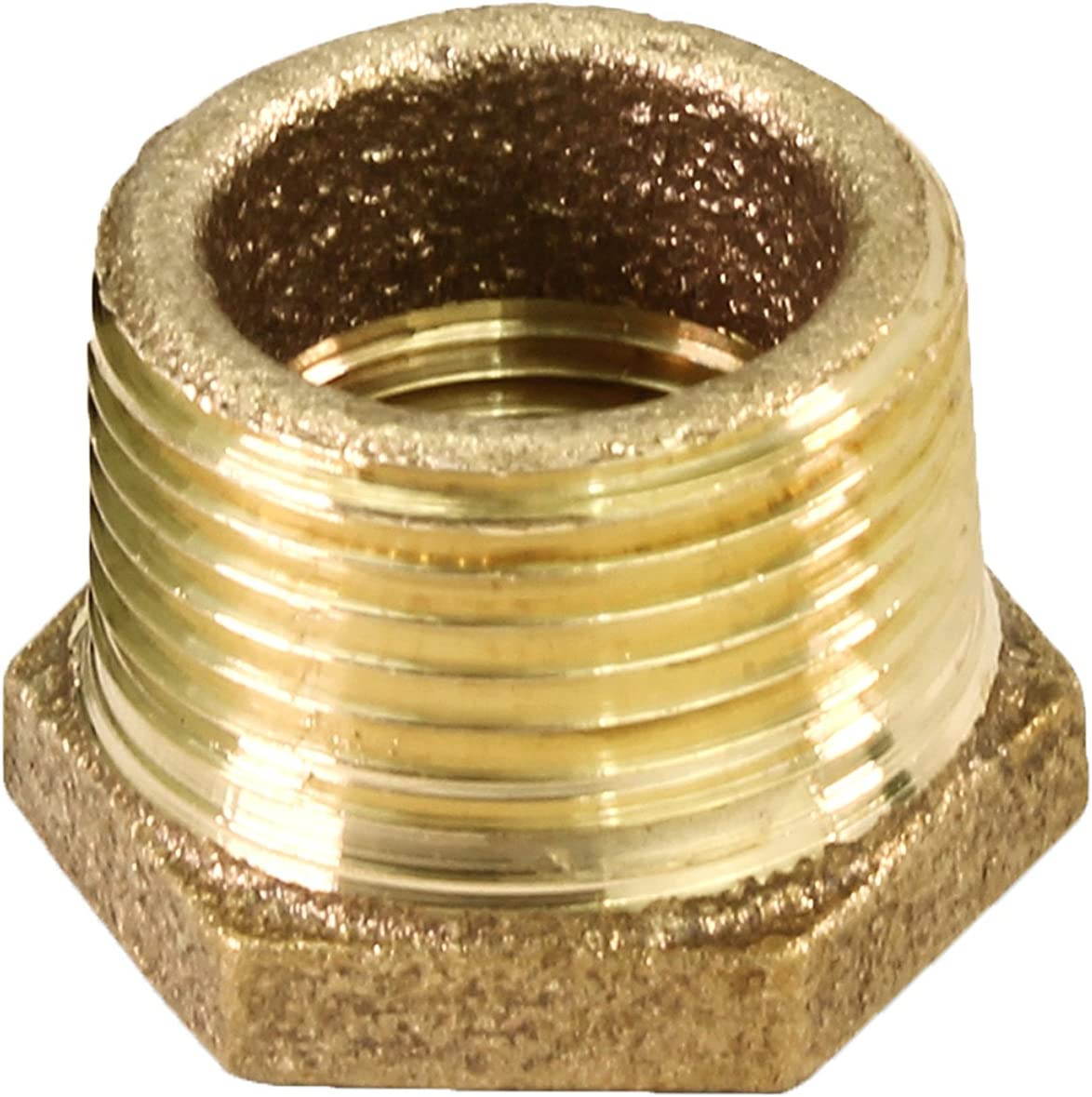 Brass Construction Everflow BRBU0140-NL 1//4 Inch Male NPT X 1//8 Inch Female NPT Brass Lead Free Bushing Higher Corrosion Resistance Economical /& Easy to Install Fitting with Hexagonal Head