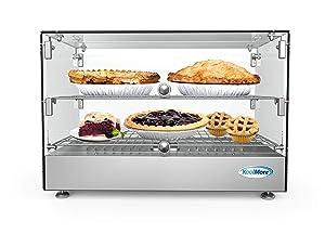 "KoolMore 22"" Self Service 2 Shelf Commercial Countertop Food Warmer Display Case - 1.7. cu ft."