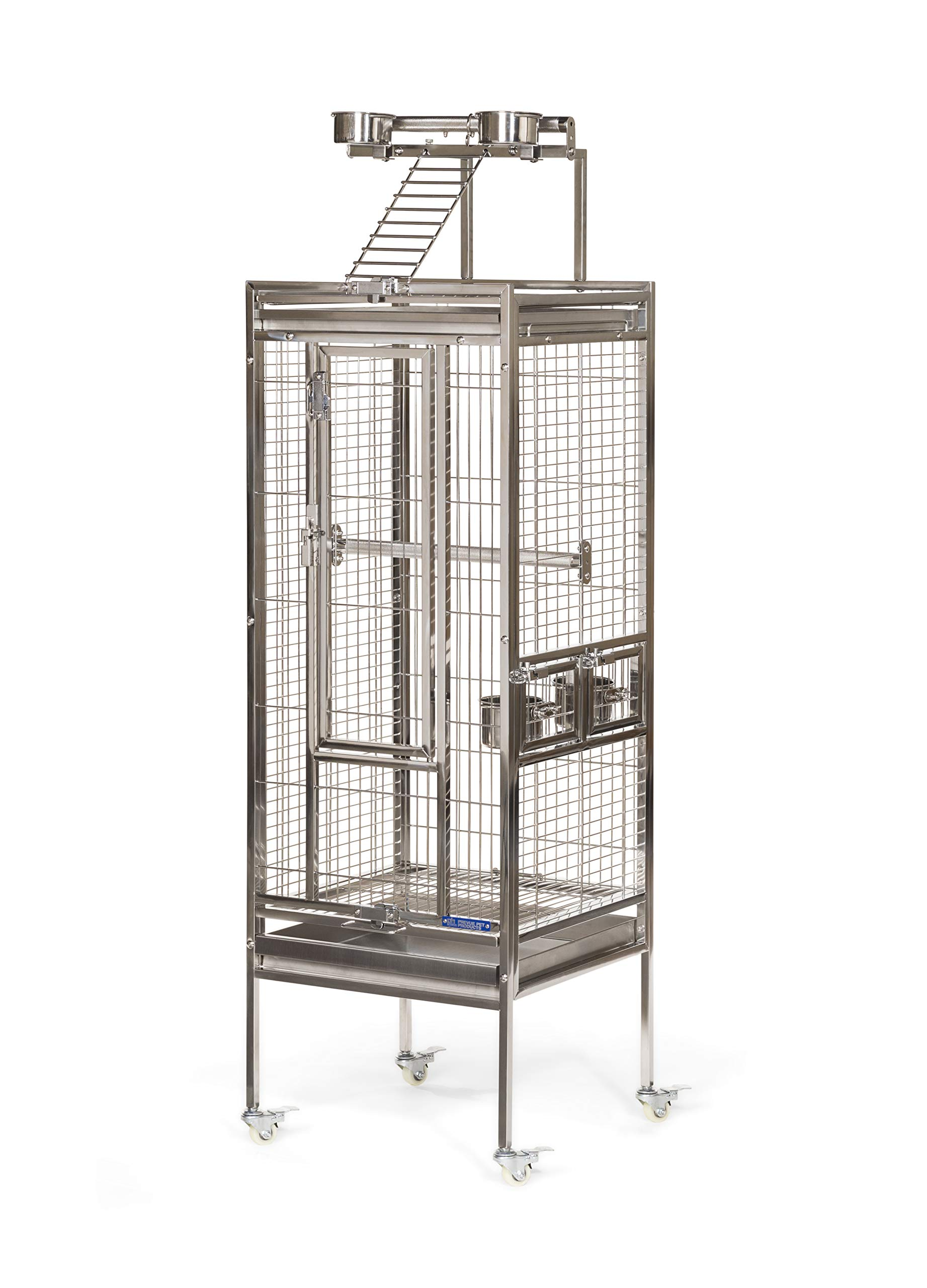 Prevue Pet Products Stainless Steel Playtop Bird Cage, Small by Prevue Pet Products