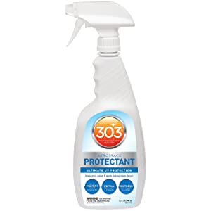 303 (30313-CSR) UV Protectant Spray for Vinyl, Plastic, Rubber, Fiberglass, Leather & More – Dust and Dirt Repellant - Non-Toxic, Matte Finish, 32 Fl. oz.