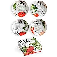Pasta Italiana Juego de 4 Platos para Salsas
