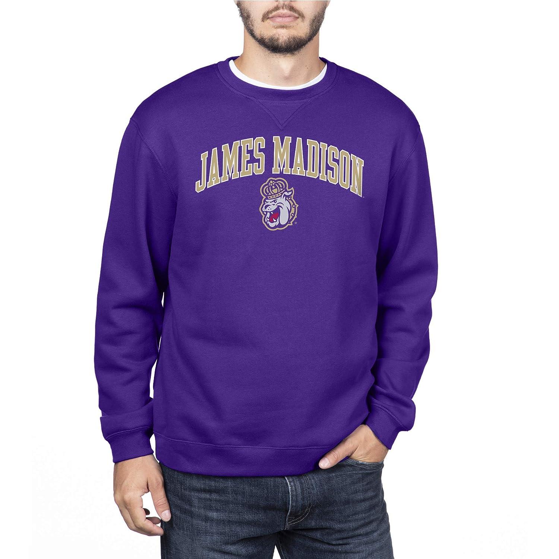 Purple Small NCAA James Madison Dukes Mens Team Color Crewneck Sweatshirt