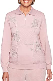 4f40e3f970a Alfred Dunner Asymmetrical Floral Sweater at Amazon Women s Clothing ...