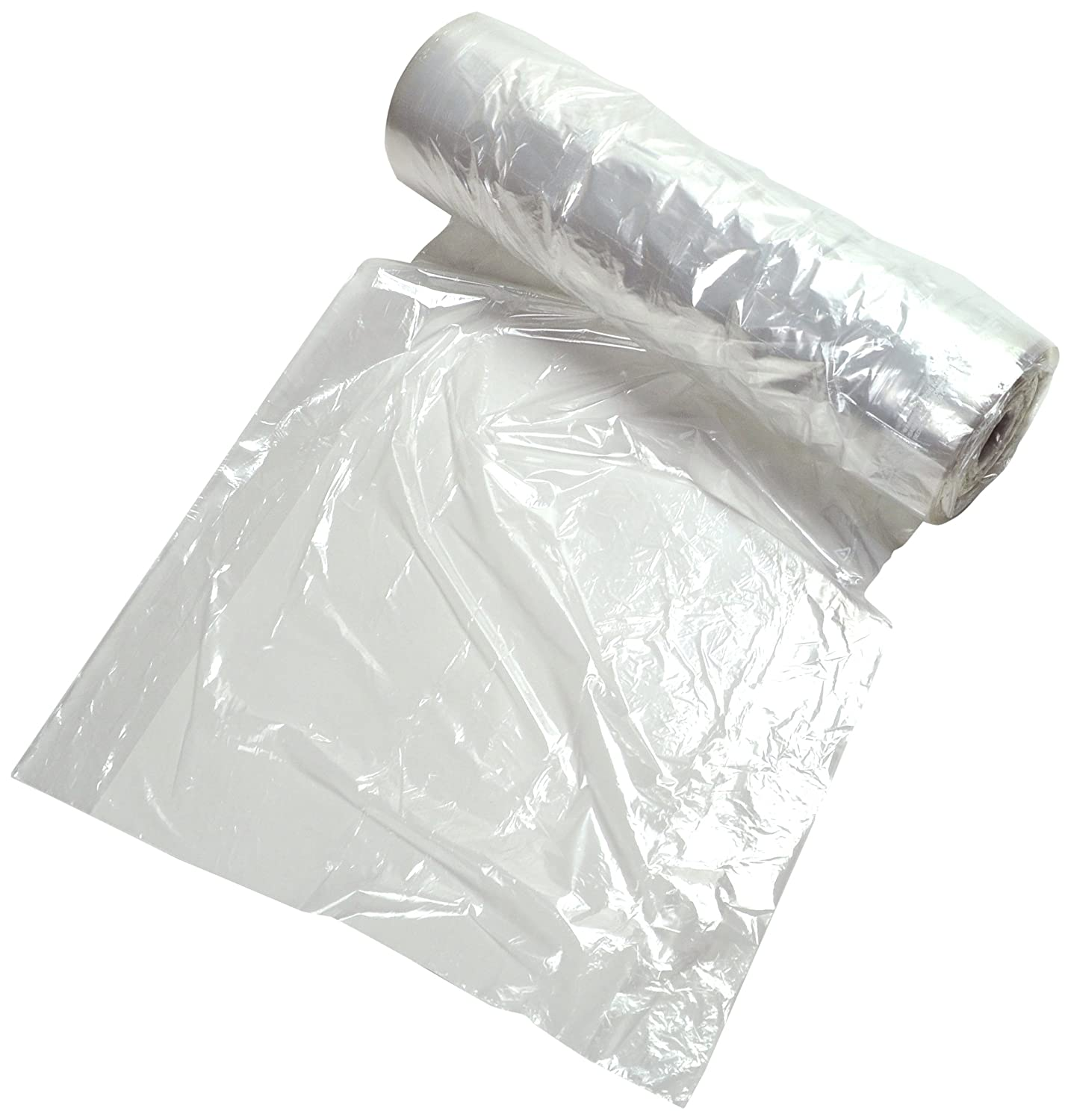 Roll of 386 20 x 42 Dress Clear 20 x 42 Elkay Plastics I7542 0.75 mil Garment Bag on Roll