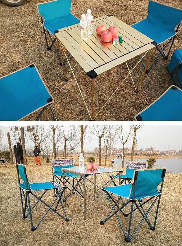 Table PliantesForte Capacité Camping Kokr Avec De 4 Chaises n0wPOkXN8