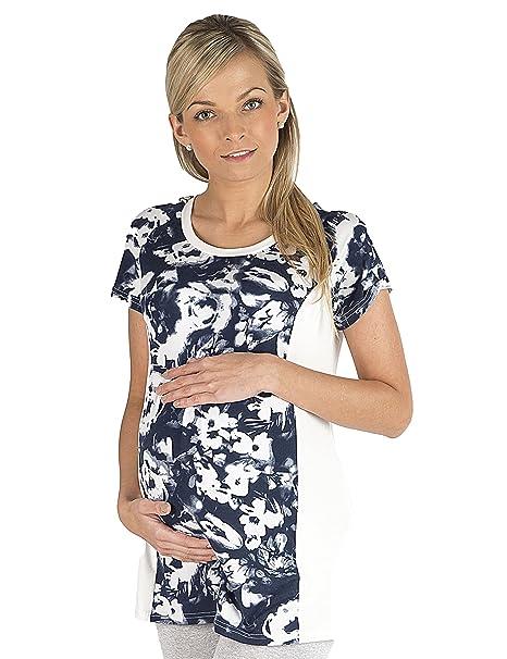 yshop Camisa de Maternidad Camisa Circunstancia Blusa Túnica Superior Corto Pobre Flores Impresión Embarazada: Amazon.es: Ropa y accesorios