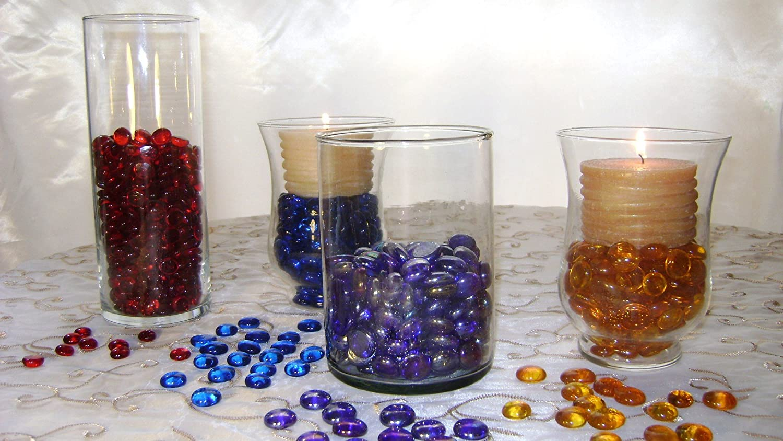 Vase Fillers Creative Stuff Glass Glass Gems 1 LB, Blue Cat-Eye