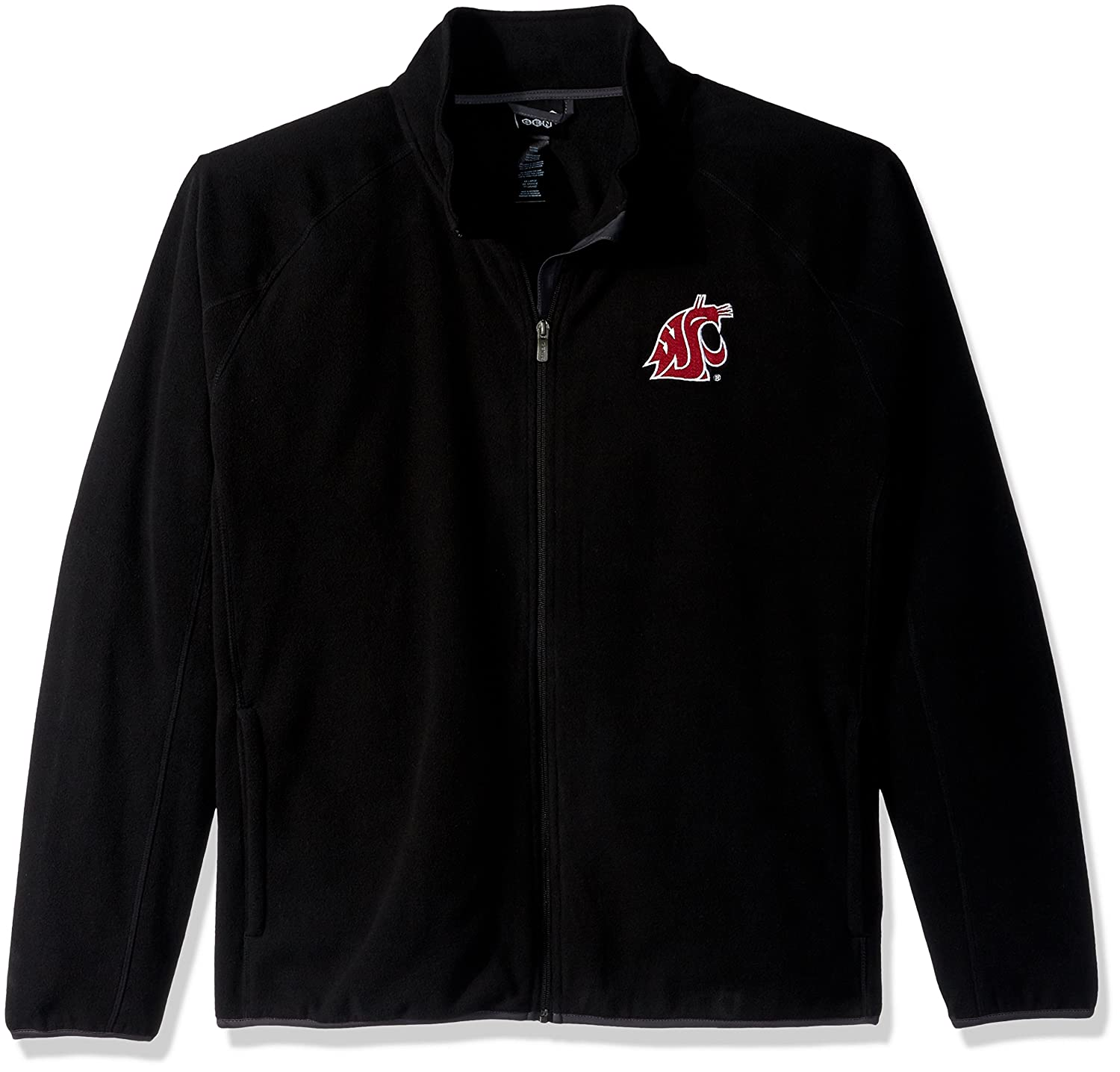 NCAA Washington State Cougars Mens  Outerstuff Scrimmage Full Zip Jacket Black Large