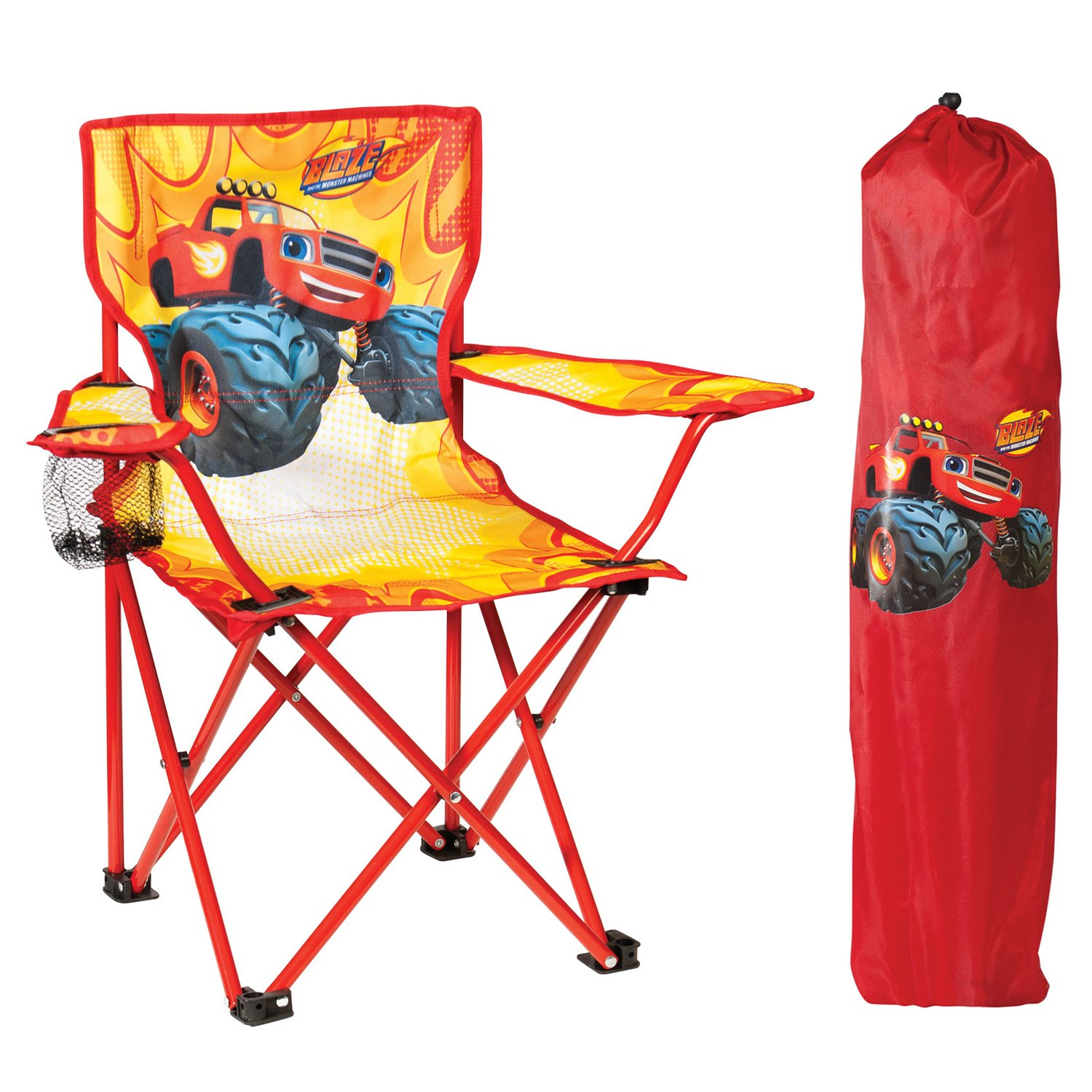 Nickelodeon Blaze & The Monster Machines Fold N' Go Chair with Storage Bag, Red by Nickelodeon