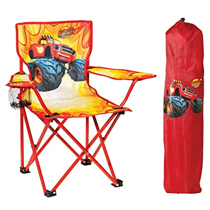 Pleasing Nickelodeon Blaze The Monster Machines Fold N Go Chair With Storage Bag Red Theyellowbook Wood Chair Design Ideas Theyellowbookinfo