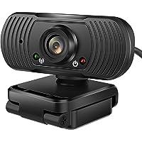 Webcam 1080P HD con Micrófono USB 2.0 Cámara Web de PC, Escritorio o portátil para videoconferencias, enseñanza de línea…