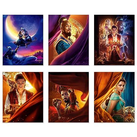 Aladdin 2019 Poster Movie Prints Set Of 6 8 Inches X 10 Inches Photos Will Smith Naomi Scott Mena Massoud