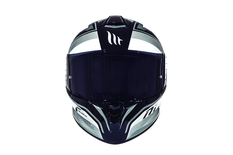 colore/bianco e nero lucido Medium Bianco rosso MT Helmets Casco Targo Interact A1