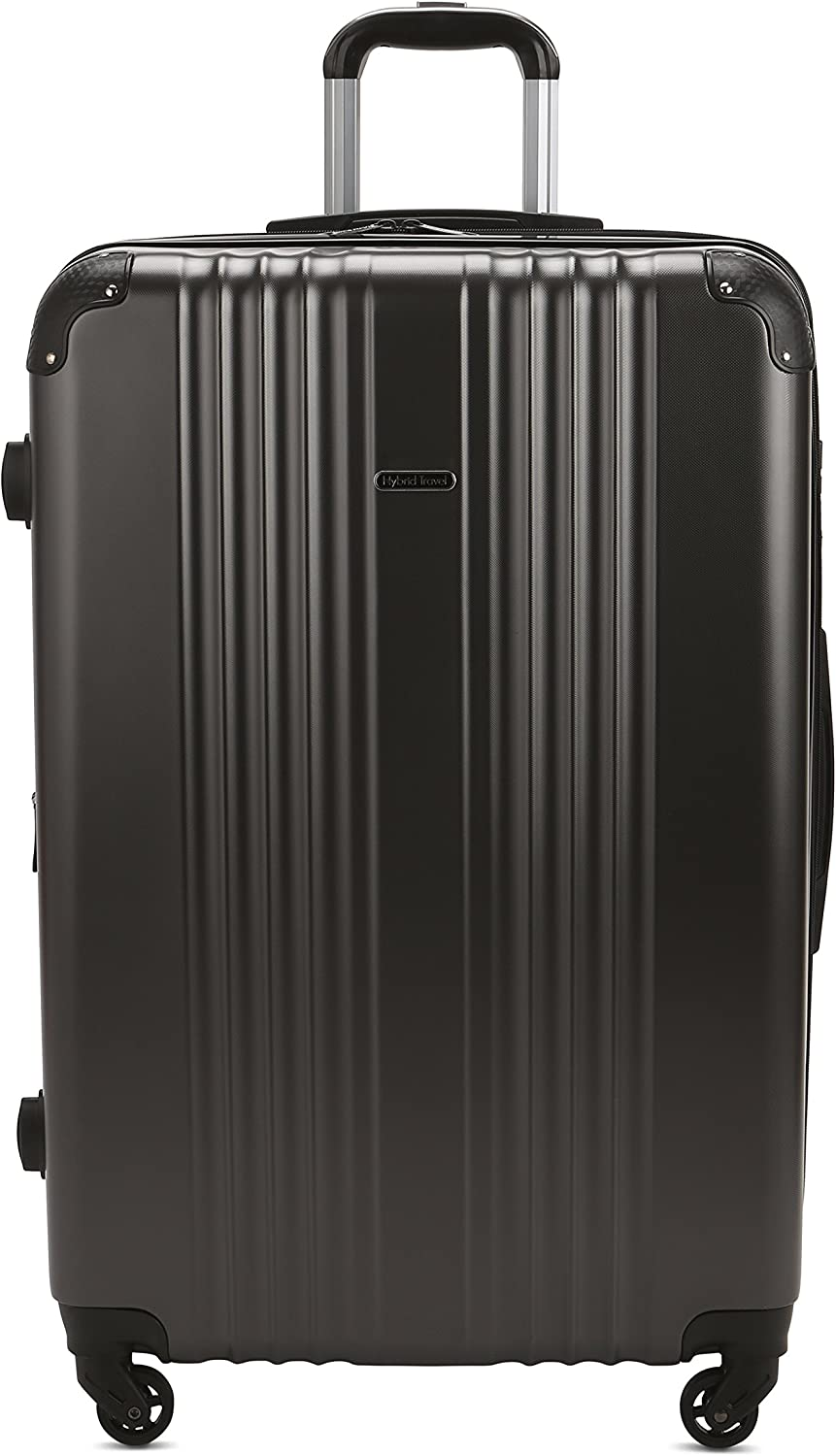 Black 3 Pieces HyBrid /& Company Luggage Set Durable Lightweight Spinner Suitcase LUG3-6111