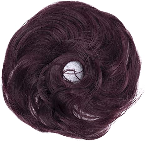 PRETTYSHOP Scrunchy Scrunchie Bun Up Do Hair Piece Hair Ribbon Ponytail Extensions Wavy Curly or Messy various/diverse colours