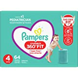 Pampers Diapers Size 4 - Cruisers 360˚ Fit Disposable Baby Diapers with Stretchy Waistband, 64 Count, Super Pack (Packaging M