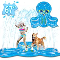 Ayeboovi Sprinkler for Kids Splash Pad Baby Pool with Lovely Octopus Design 67'' Large Water Play Toys for Children - Gift for 1 2 3 4 5 Year Old Boys Girls