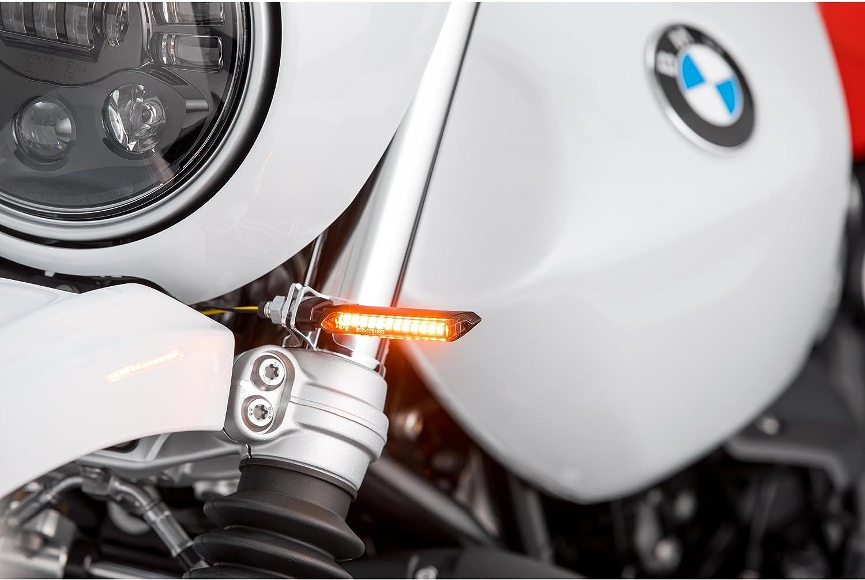 Hashiru Motorrad Blinker E Geprüft Led Lauflicht Blinkerpaar St01 M8 Schwarz Getöntes Glas Auto