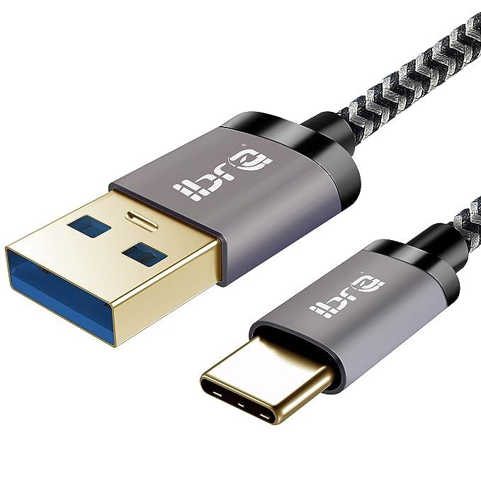 7 opinioni per Cavo USB C [Ultra durevole] IBRA Nylon intrecciato da C-C a cavo USB 3.0- per