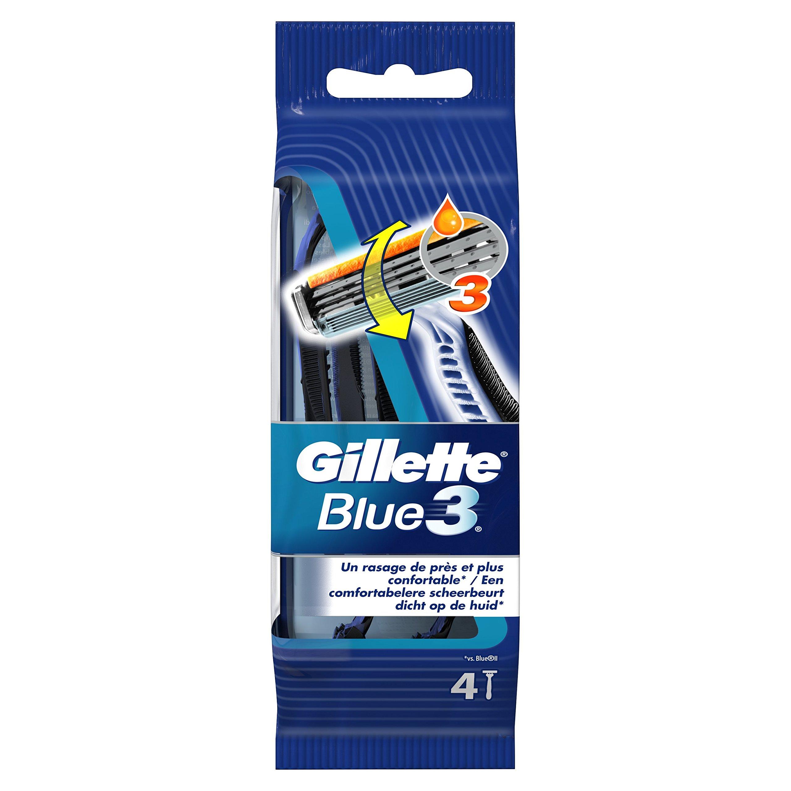 Gillette Blue3 - Maquinillas Desechables Para Hombre - 4+1 Unidades product image