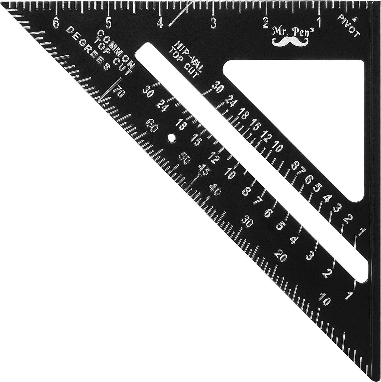 Mr. Pen- Rafter Square, Metal Square, 7 Inch, Carpenters Square, Square Tool, Metal Square Ruler, Carpentry Squares, Woodworking Square, Square Angle Tool, Aluminum Rafter Square, Carpenter Square