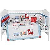6 Pcs Crib Bedding Set- Transport