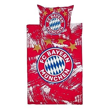 Fc Bayern München Bettwäsche Rotweiß Amazonde Sport Freizeit