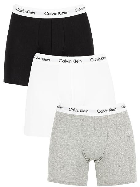 Calvin Klein Hombre Pack de 3 Calzoncillos de algodón elásticos, Blanco, X-Large