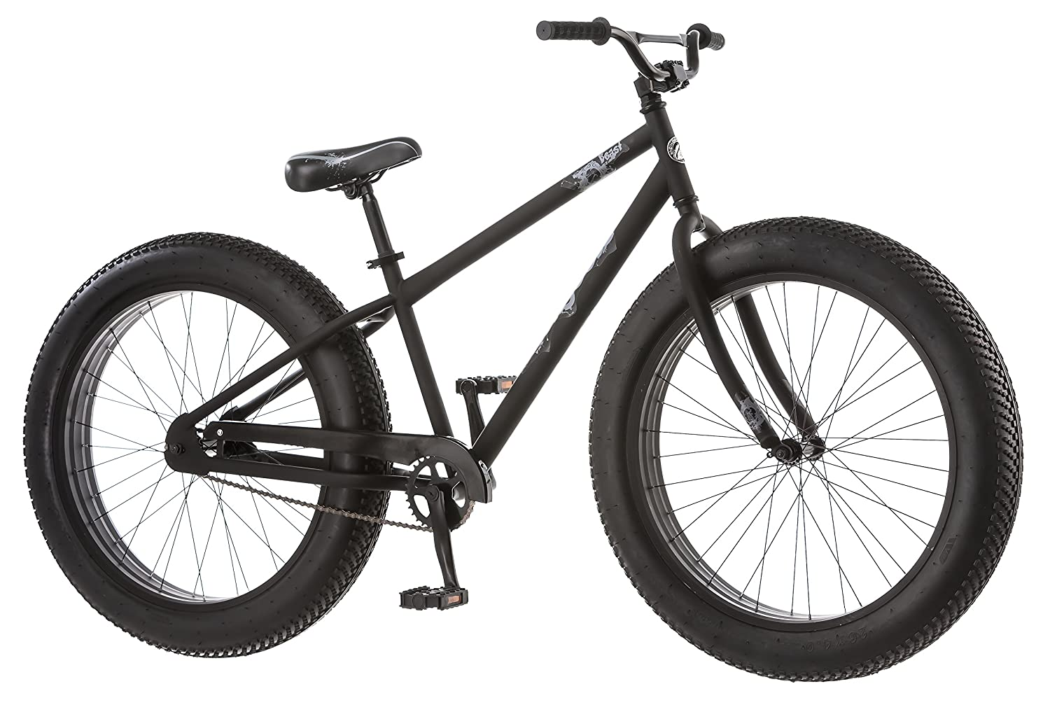 Amazon Com Mongoose Beast Men S Fat Tire Bicycle Black 26