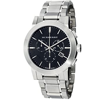 Amazon.com  Burberry Women s BU9351 Large Check Stainless Steel ... a11e7546c85