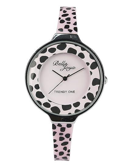 c45e461b3b56 Bella Joya Trendy One - Reloj de Pulsera para Mujer (Carcasa Plateada