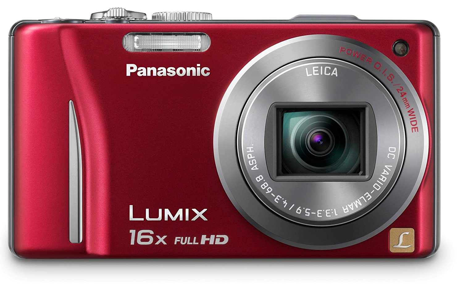 Amazon.com : Panasonic Lumix DMC-ZS10 14.1 MP Digital Camera with 16x Wide  Angle Optical Image Stabilized Zoom and Built-In GPS Function (Red) : Point  And ...
