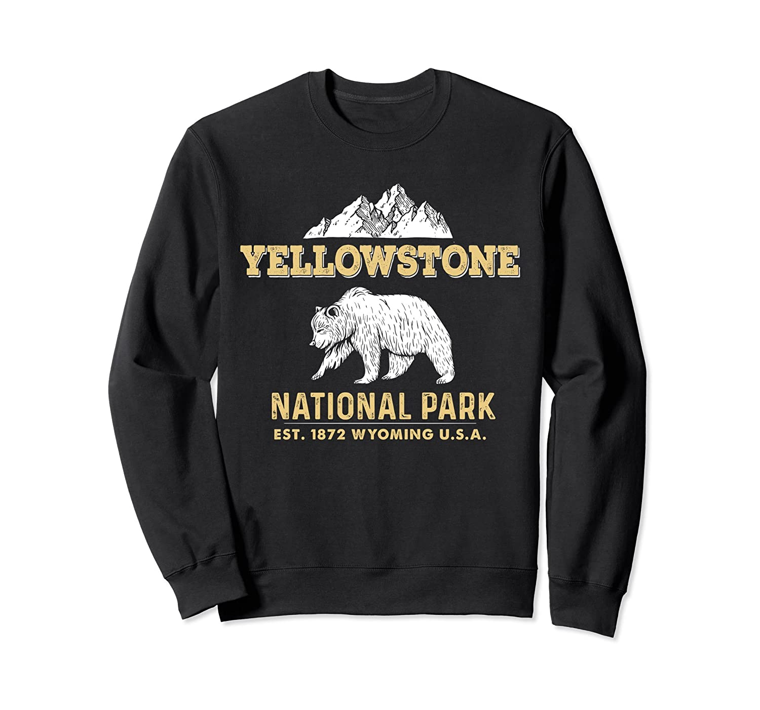 Yellowstone National Park Wyoming Grizzly Bear Sweatshirt-TH