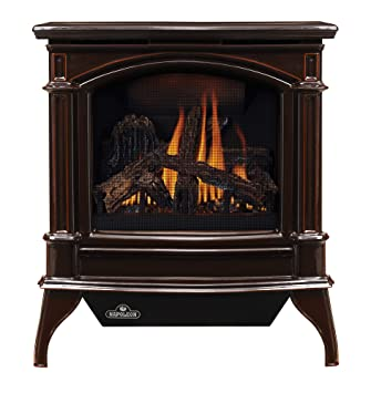 Napoleon GVFS60-1NN Fireplace, Natural Gas Stove Vent Free 30,000 BTU - Porcelain Majolica Brown