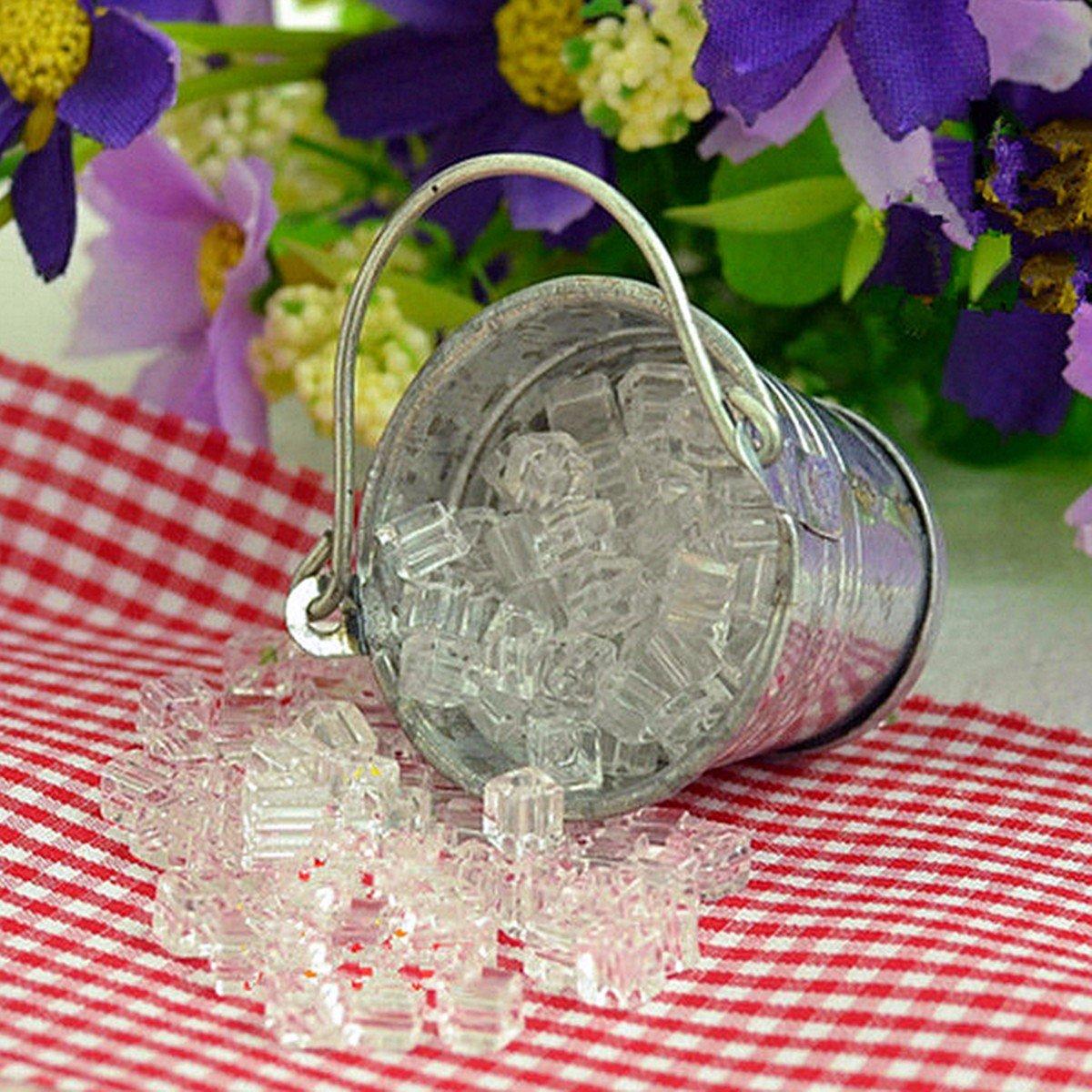 Home Mini Ice Cube Dollhouse Accessories Miniature Iron Pail