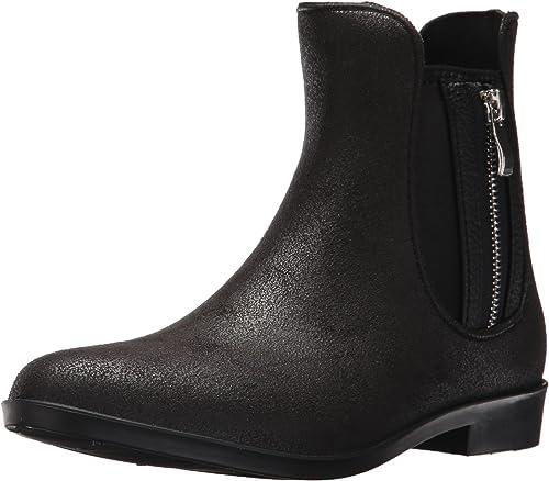 Women/'s Size 9 Dav Bowie Mid Rain Boot Black