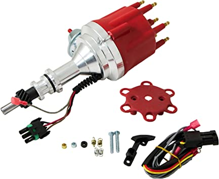 Top Street Performance JM7709R Pro Series Ready-To-Run Distributor with Red Cap