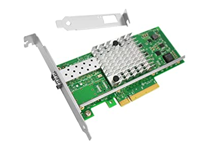 Vogzone for Intel X520-DA1/ X520-SR1 10Gb NIC Single SFP+ Port Ethernet  Converged Network Adapter PCI Express 2 0 X8 with Intel 82599ES Chipset