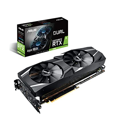 ASUS Dual RTX2080 A8G VR Ready Gaming Graphics Card - Turing Architecture (Dual RTX2080-