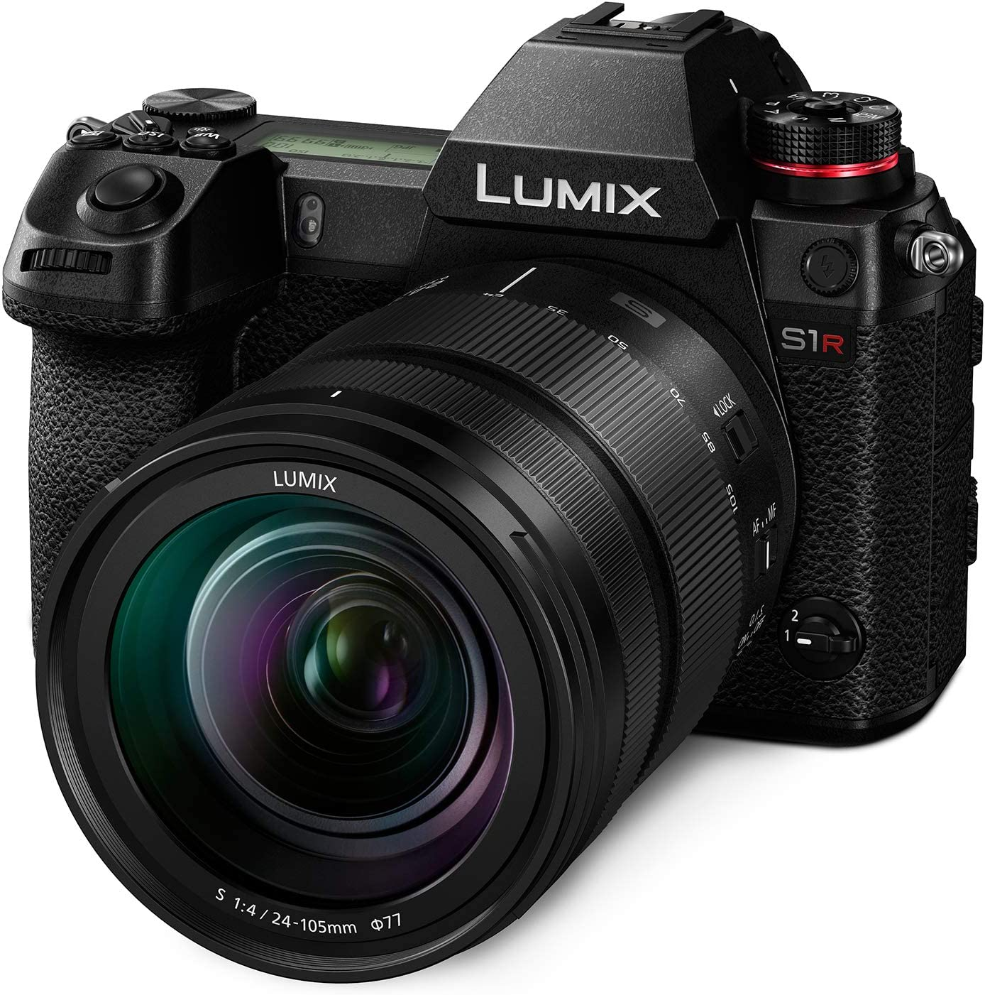 "Panasonic LUMIX S1R Full Frame Mirrorless Camera with 47.3MP MOS High Resolution Sensor, 24-105mm F4 L-Mount S Series Lens, 4K HDR Video and 3.2"" LCD - DC-S1RMK"