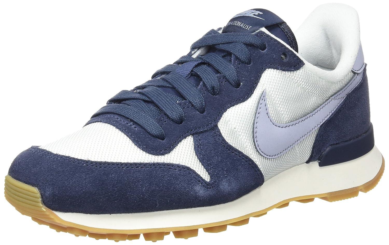 Nike Internationalist, Zapatillas para Mujer 40.5 EU Blanco (Summit White / Glacier Grey / Thunder Blue)