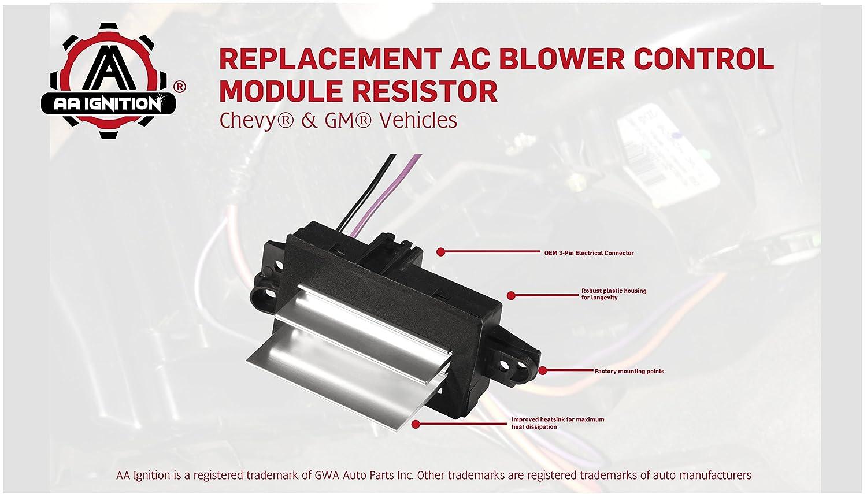 Ac Blower Control Module Replaces 1580567 93803636 2003 Chevy Tahoe System 52413530 89018778 4p1516 Fits Silverado Trailblazer Cadillac Escalade