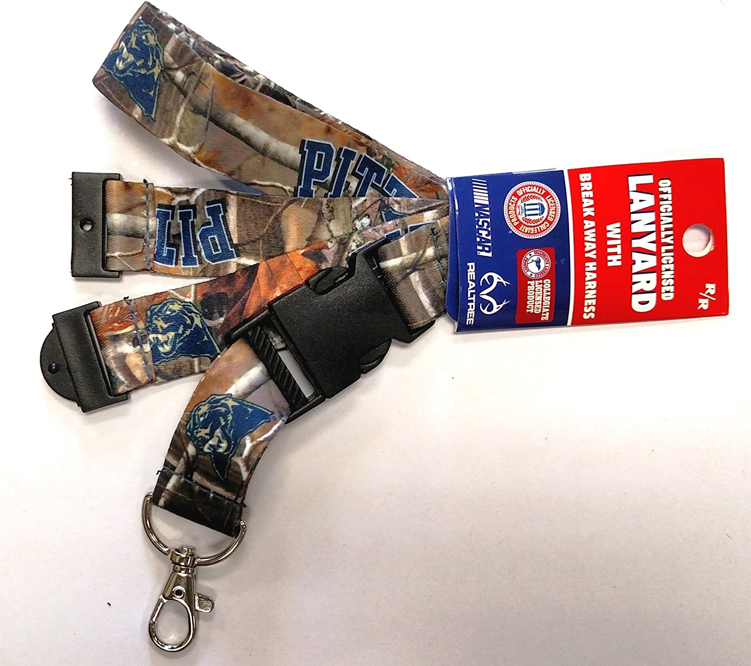 RR Pittsburgh Panthers Pitt CAMO Deluxe 2-Sided Lanyard Breakaway Clip w//J-Hook Keychain University of Mississippi
