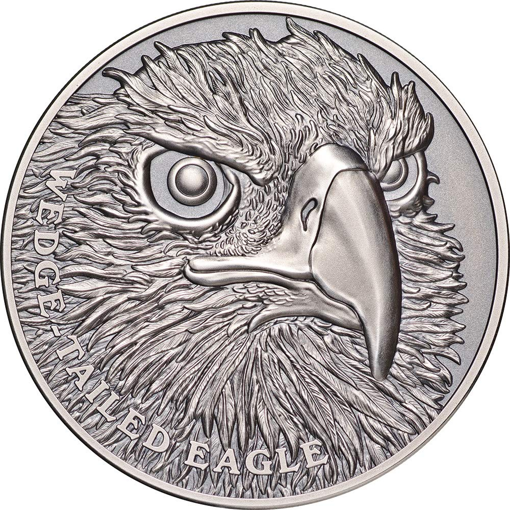 Power Coin Wedge Tailed Eagle Alder Wildlife Up Close 1 Oz Silber Münze 1 Niue 2019
